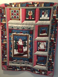 Handmade  Quilted Christmas wall display or table top cover Frederick, 21703