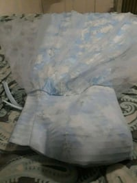 white and blue floral textile 42 km
