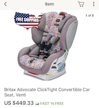 Britax Advocate Clicktight convertible car seat Fairfax, 22030
