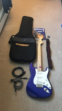 Blue and white stratocaster electric guitar with gig bag Wallingford, 06492
