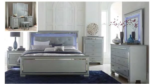 quality design 341b9 ed4a3 Queen Bed Frame! (LED lights installed)