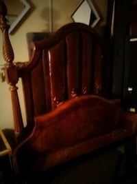 Solid oak very heavy queen bedfre was 3000 new willing to let go for 4