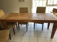 Brown teak wooden table with 8 chairs Mississauga, L5L 5R1