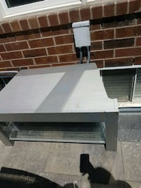 Wood and glass TV stand gray colour Pickering, L1X 0A4