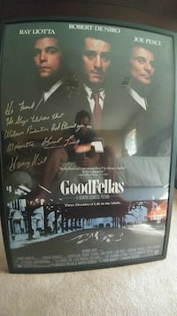 Goodfellas Autographed movie poster