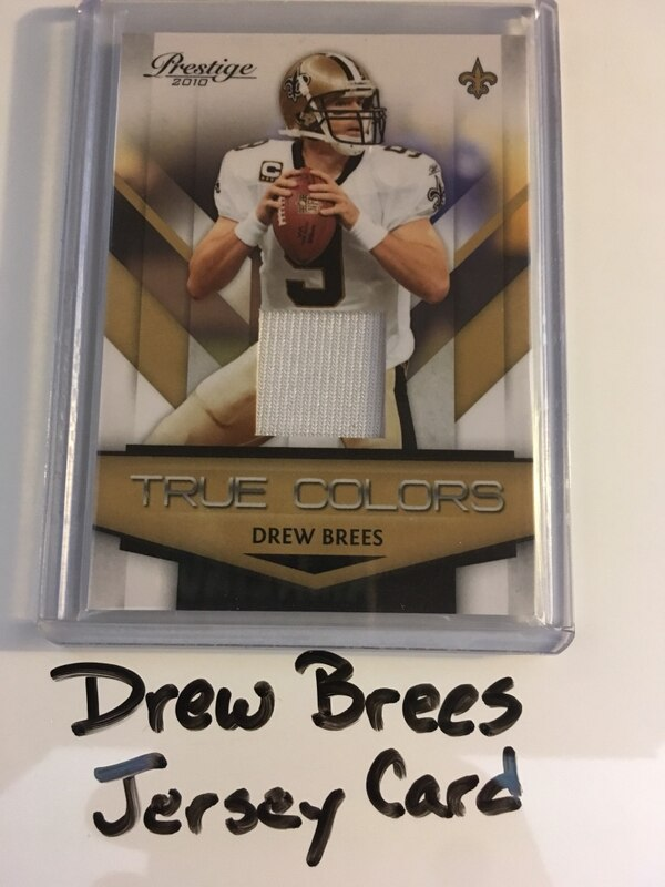 low priced 34c3e aac91 Drew Brees Purdue Boilermakers New Orleans Saints 2010 Jersey Card. #'d  233/250.