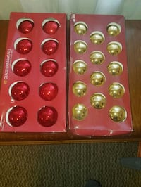 Red and gold Glass Christmas ornaments Elizabethtown, 17022