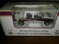 1995 red and white Chevrolet crew cab pickup truck miniature package