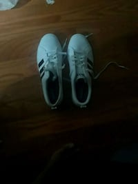 pair of white low-top sneakers Toronto, M9W 6T4