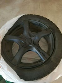 Toyo Winter Tires 225/50/R17 and Black Rims Whitby, L1P