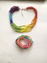 Pride parade accessories jewelry kit /rainbow necklace and bracelets