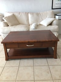 brown wooden coffee table with drawer Hollywood, 33019