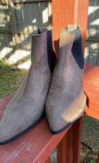 H&M booties, never worn brownish grey