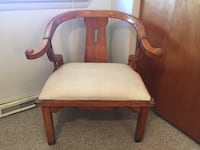 brown wooden framed white padded chair Hagerstown, 21740