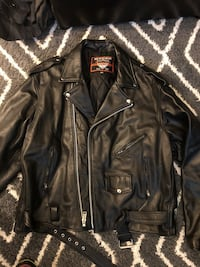 Real leather motorcycle jacket Bowie, 20721