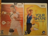 Two Nintendo Wii Fit games: Active / Your Shape  Vaughan, L4L