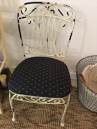 Heavy wrought iron chair with upholstered top Boynton Beach, 33435