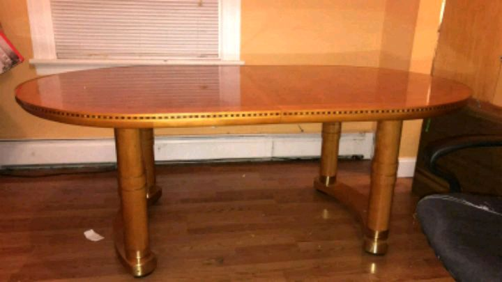 used italian brown dining room table with 6 chairs for sale in rh gb letgo com