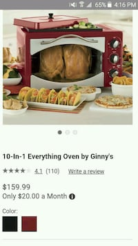 10 in 1 Everything Oven by Ginny's  Belle Chasse, 70037
