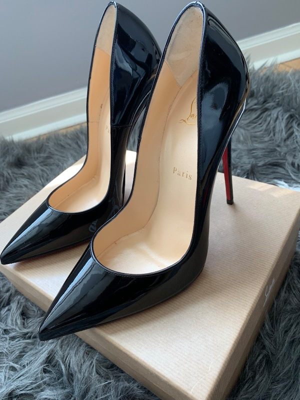 run shoes best sell fresh styles Christian Louboutin So Kate 120 Patent Black Heels