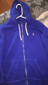 blue Ralph Lauren zip-up hoodie Winnipeg, R2X 1K9