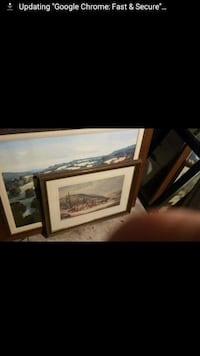 three brown and black wooden framed wall arts London, N6C 1E9