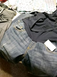 two blue and gray denim shorts Fountain, 80817