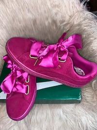 Hot Pink Satin Puma Shoes District Heights, 20747
