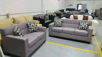 tufted gray fabric 4-piece sofa set Calgary, T3J 0C3