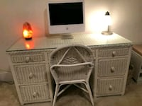 Whisker Desk with GlassTop and Chair  Vienna, 22180