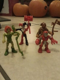 four assorted DC characters action figures