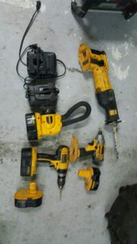 black and yellow power tools