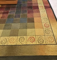 brown, red, and green area rug Caseyville