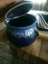 blue ceramic pot with lid Hyattsville, 20782