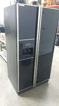 black side by side refrigerator with dispenser Abbotsford