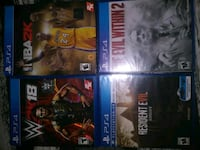 4 ps4 games Augusta, 30906