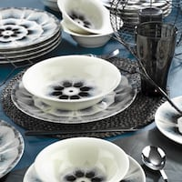 white and black ceramic dinnerware set London