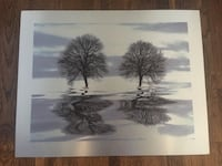 "Metallic wall art- 16x20"" with skyline and tree design  Arlington, 22202"