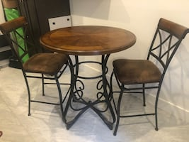 High top table and chairs