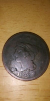 1842 United States one cent piece