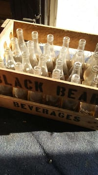 Black bear wooden crate with bottles Milwaukee, 53207