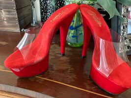 New Pleaser Red Heels Size 7