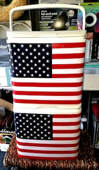 American flag coolers! $20 each firm on price.  Crestwood