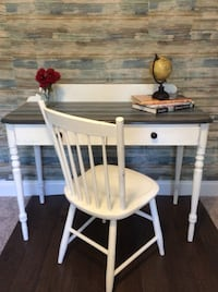 Solid wood desk and chair custom painted  Raleigh, 27606