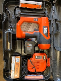Black & Decker battery powered nail gun