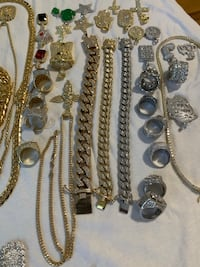 END OF YEAR SALE SPECIALS ALL DAY 14K GOLD/SILVER925 LAB DIAMONDS  New York, 10458