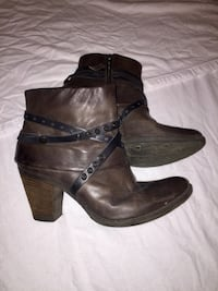 Mjus leather womans chunky-heeled booties