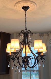 Beautiful black chandelier with crystal detail Baltimore, 21236
