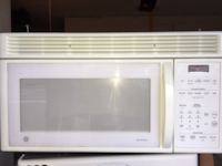 white General Electric microwave oven SIMIVALLEY