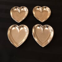 Four Sliver Plated Heart Shaped Nut/Candy Dishes Markham, L3T 3L4